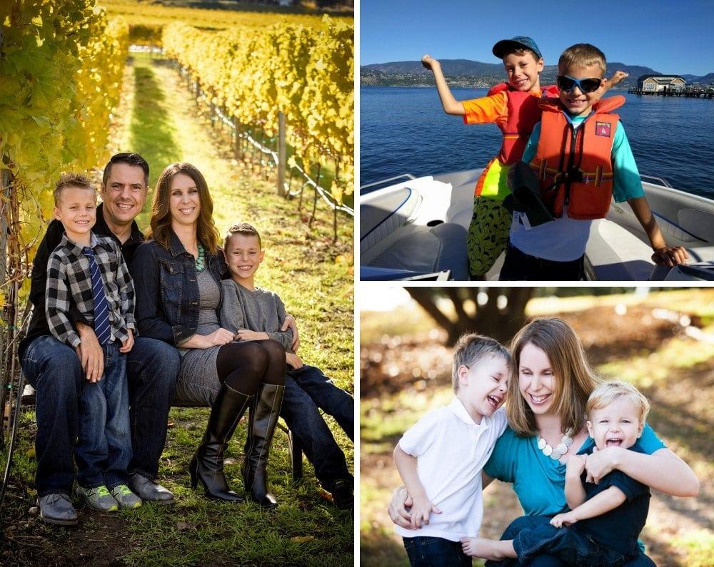 Collage of Vanessa's family photos