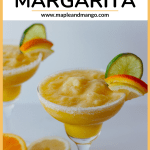 "Two frozen margaritas with text overlay that says ""Fresh Citrus Margarita"""
