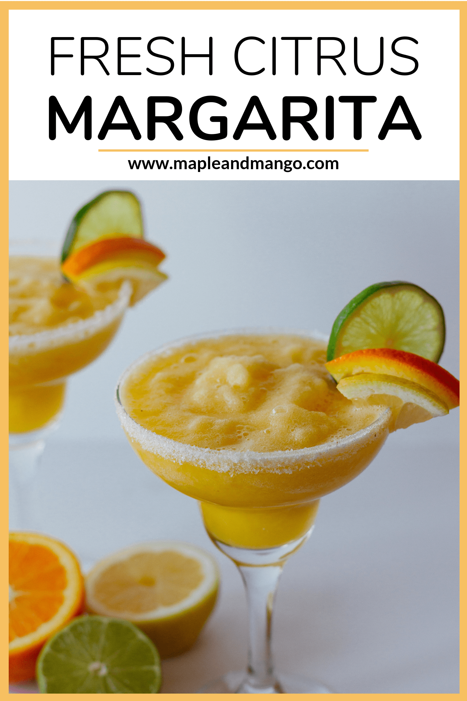 fresh citrus margarita with text overlay