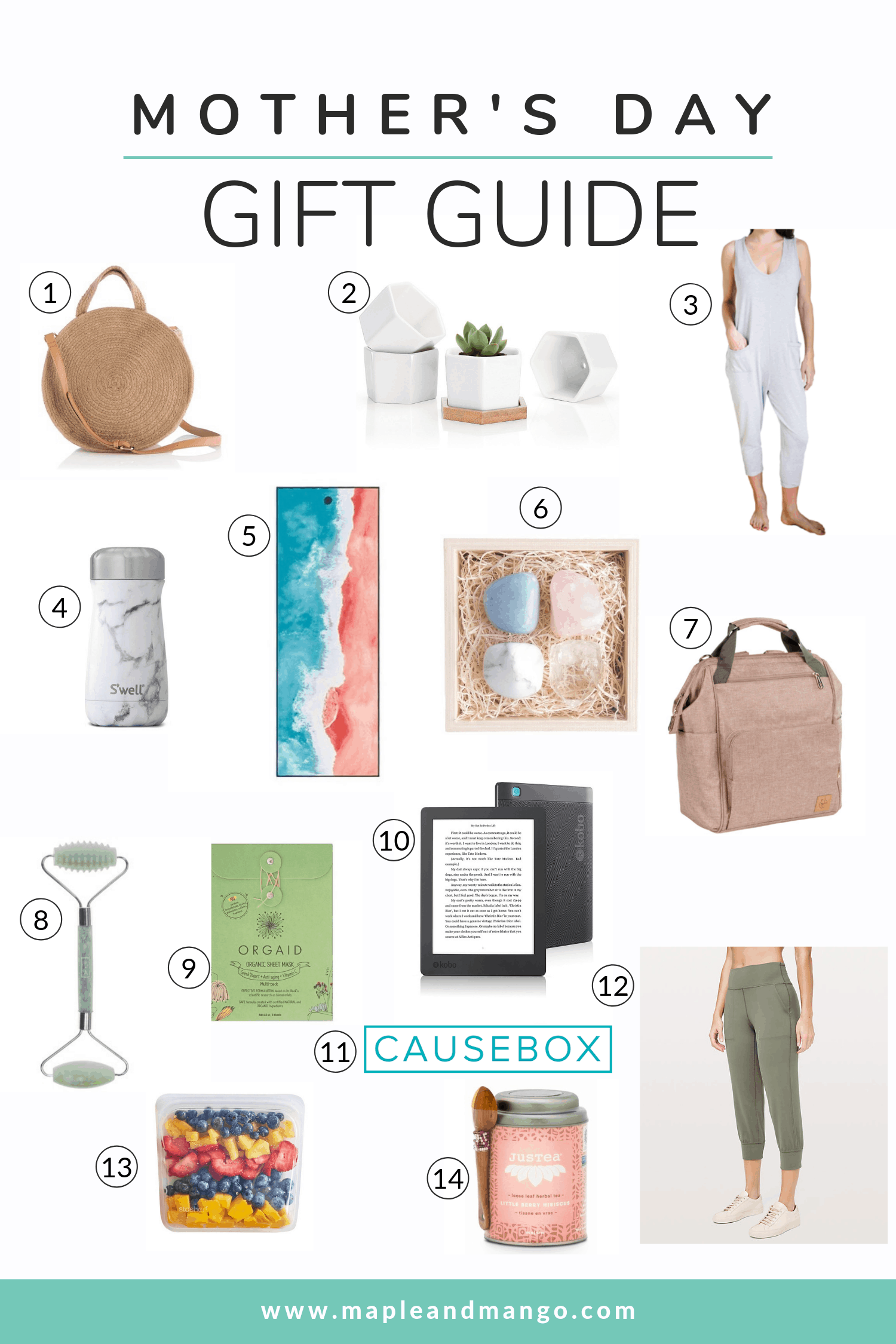 a variety of images of gift ideas for Mother's Day