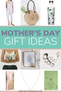 Pinterest graphic for Mother's Day Gift Ideas.
