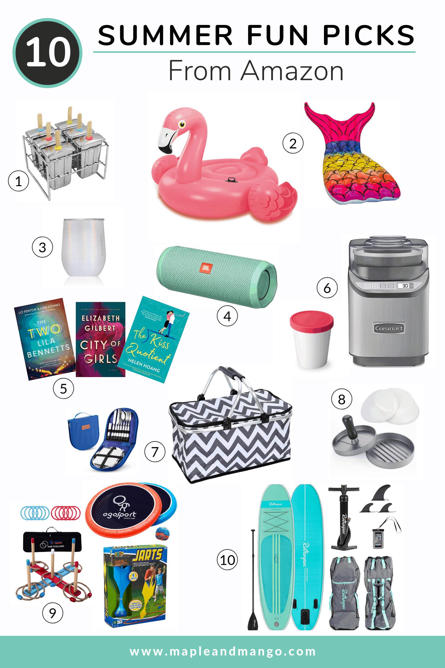 Pinterest Image featuring 10 summer fun picks from Amazon