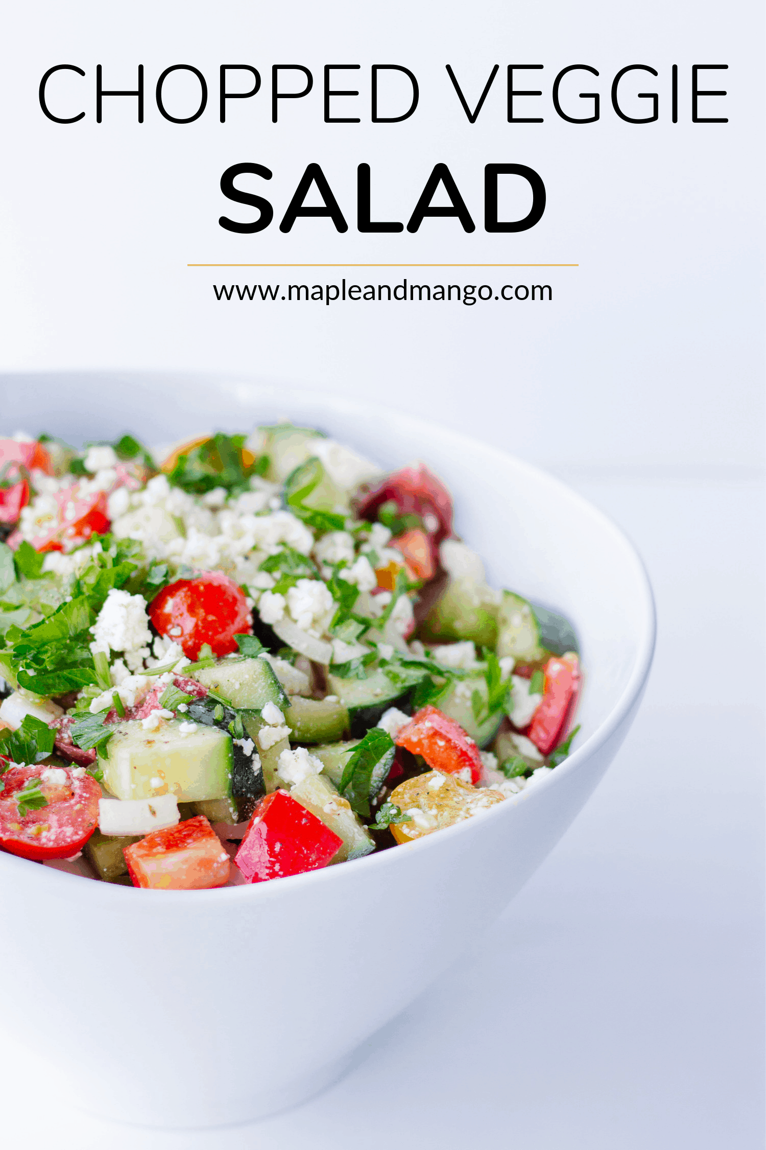 Pinterest image for Chopped Veggie Salad