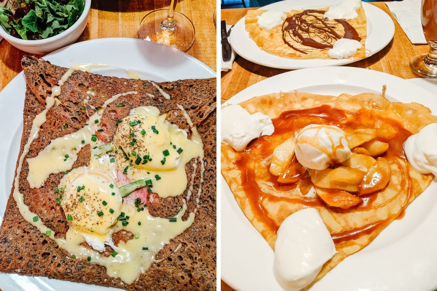 Savoury and sweet crepes at Le Billig in Quebec City