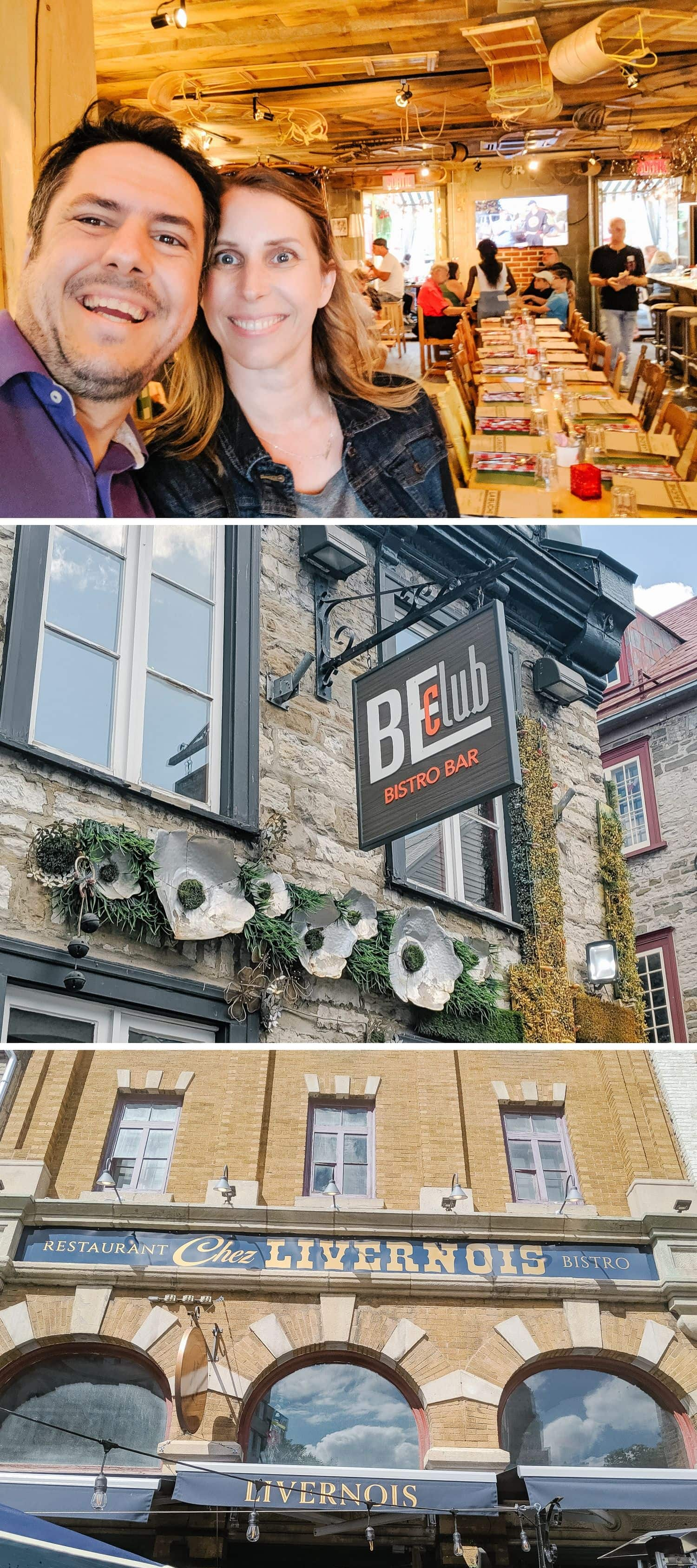 La Buche Restaurant, BEClub Restaurant and Chez Livernois in Quebec City