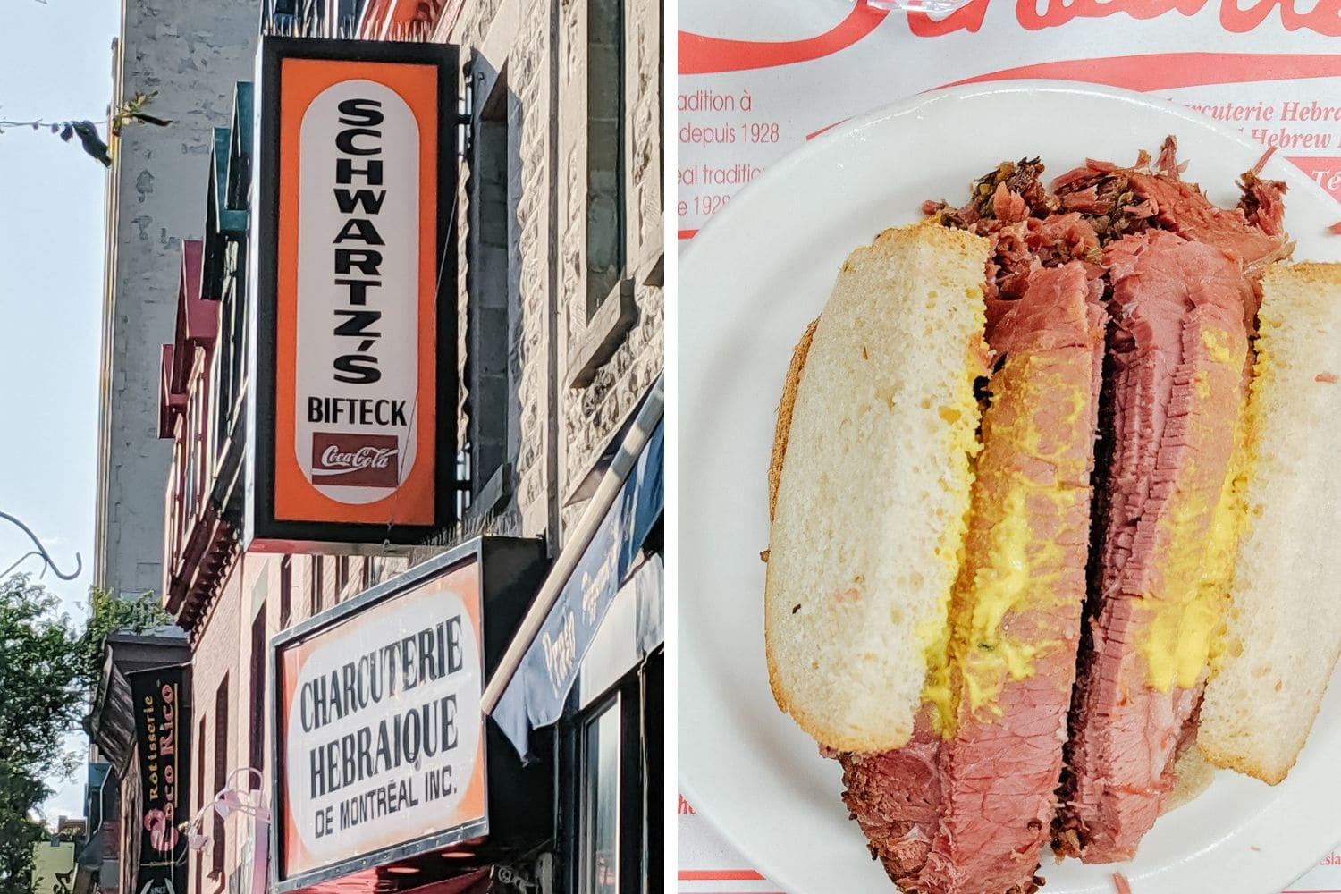 Schwartz's smoked meat in Montreal