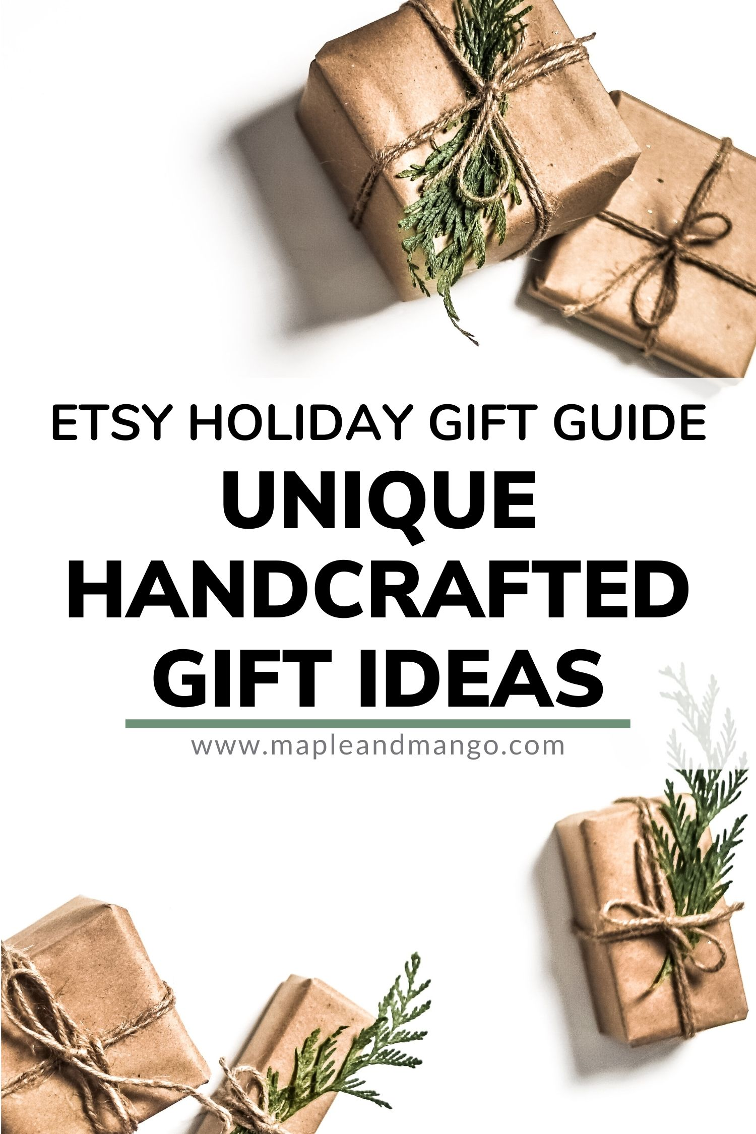 Pinterest Image for Etsy Holiday Gift Guide