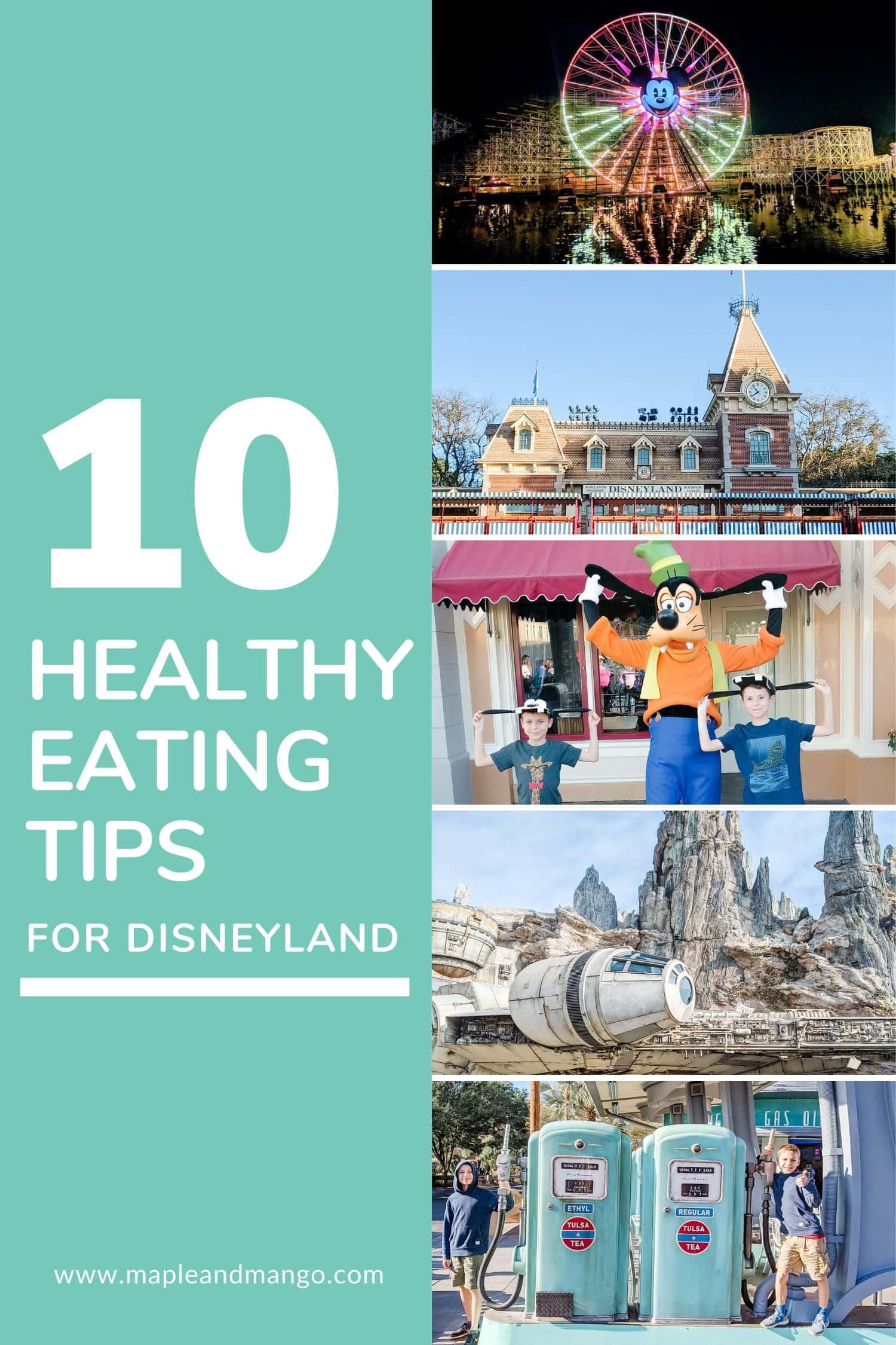 Pinterest image for 10 Healthy Eating Tips For Disneyland