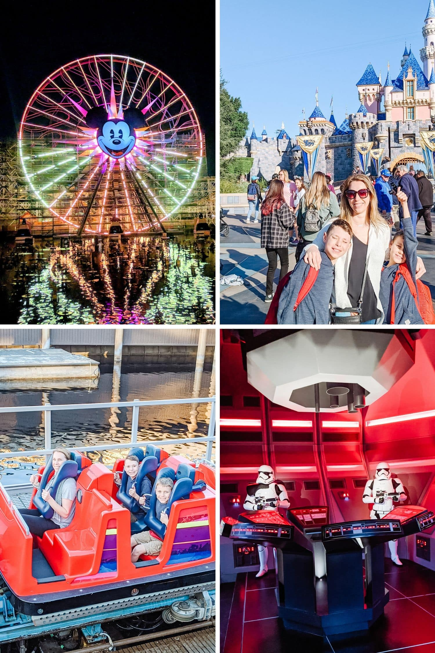 Collage of four Disneyland photos