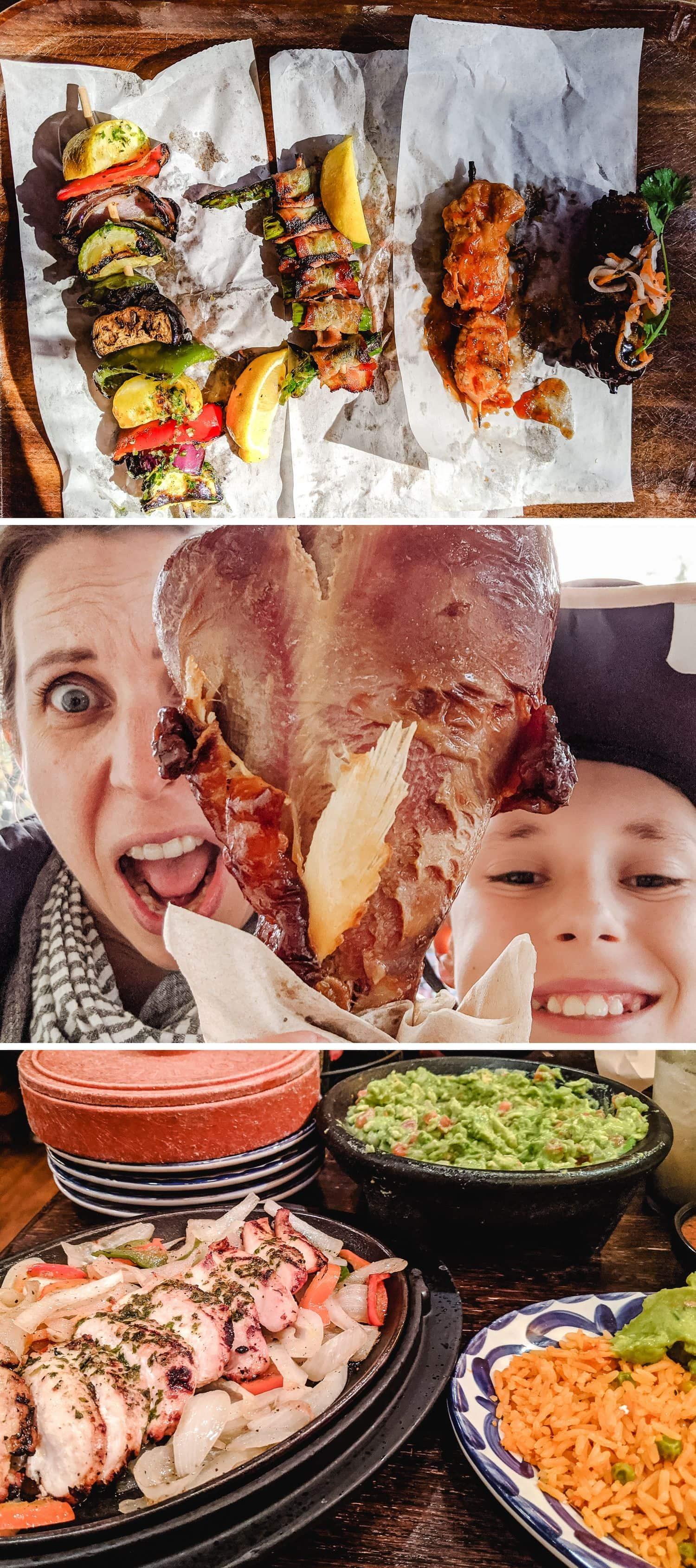 Collage of Disneyland food