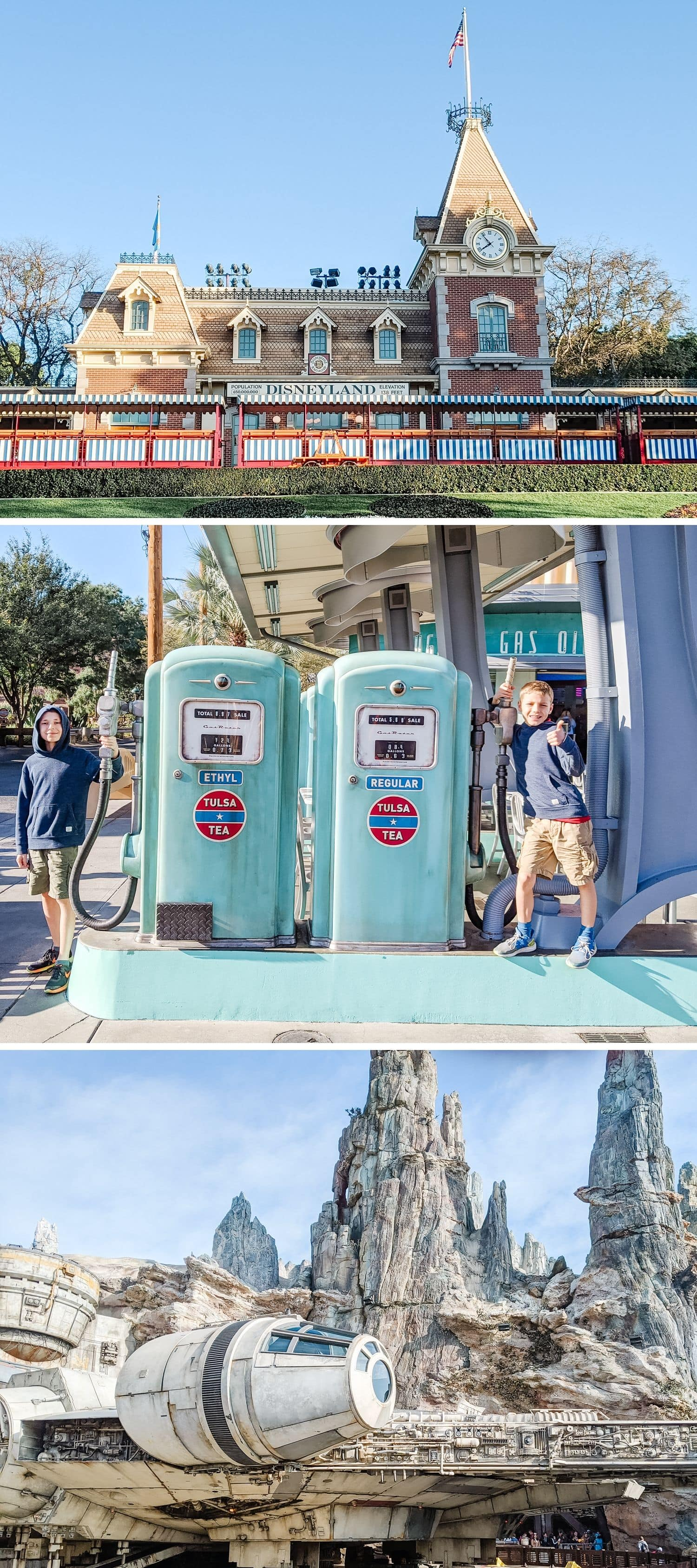 Collage of three Disneyland photos