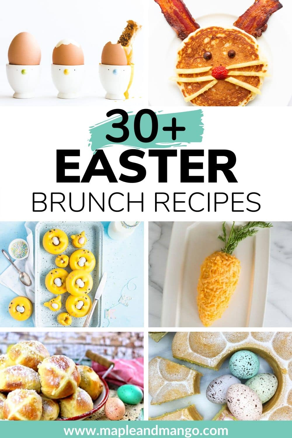 Pinterest image for Easter brunch recipe ideas.