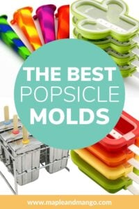 """Collage of four popsicle molds with text overlay """"The Best Popsicle Molds"""""""