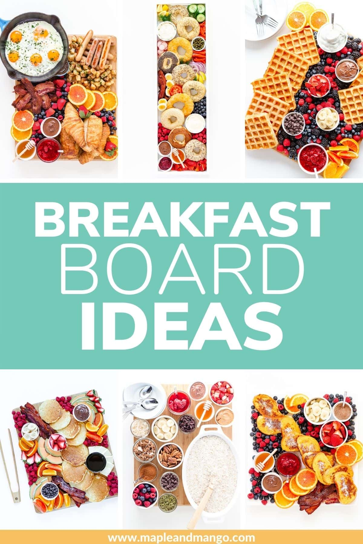 """Collage of breakfast boards with text overlay """"Breakfast Board Ideas"""""""