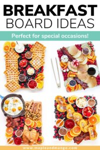 Pinterest collage graphic for Breakfast Board Ideas